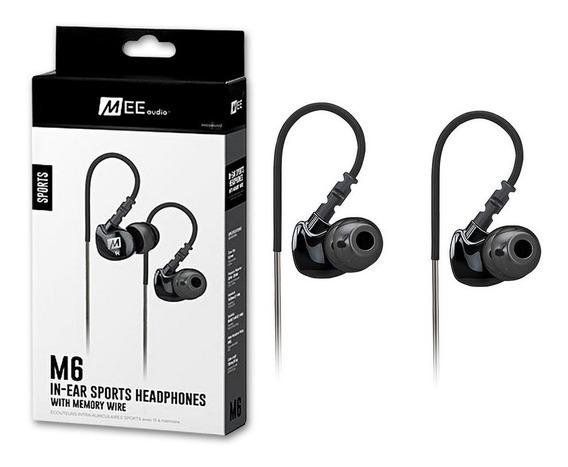 Fone In Ear Mee Audio M6 Sport Black Original Oferta + Nf
