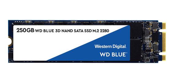Disco sólido interno Western Digital WD Blue WDS250G2B0B 250GB azul