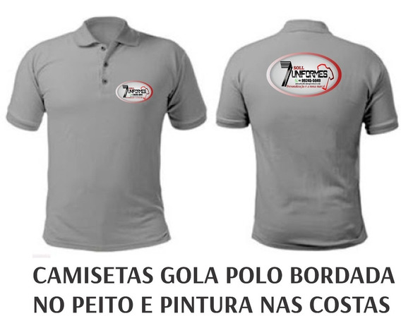 6 Camiseta Manga Curta - Uniforme Profissional Autônomo