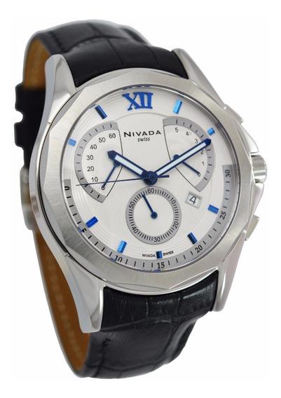 Reloj Nivada Diplomat Crono Nvng31671gacbr Hombre Original