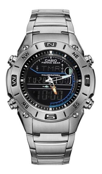 Relógio Casio Fishing Outgear Amw-703d-1a=seiko,tissot,tag