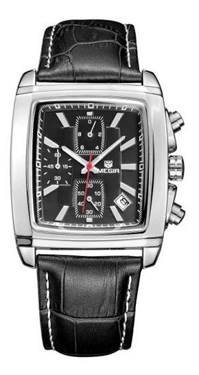 Relógio De Pulso Megir Quartzo Masculino Luxo Cronógrafo