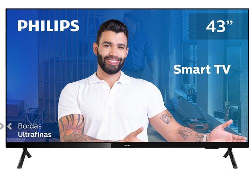 Imagem 1 de 9 de Smart Tv Philips 43 Polegadas Full Hd Sem Bordas Hdr Plus