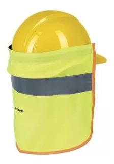 Cubrenuca Para Casco, Con Reflejante, Color Verde, 30 Cm