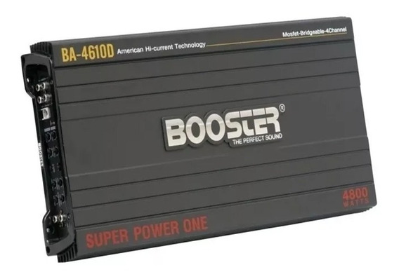 Módulo Booster Amp 4ch Ba-4610d Stereo 4800w Power One Promo