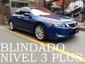 Honda Accord Coupe 2008 Blindado Nivel 3+ Blindada Blindaje