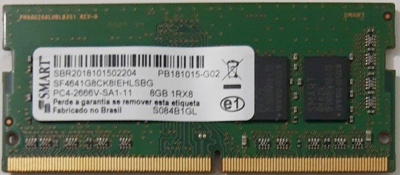 Memória Ddr 4 Smart 8gb Pc4-2666v-sa1-11 1rx8
