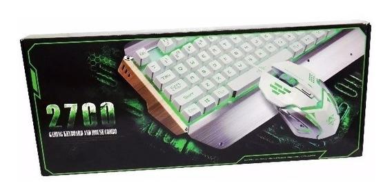 Kit Teclado Y Mouse Gamer Metal 3600 Dpi 2700!