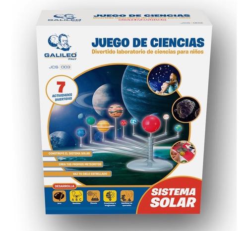 Juego De Ciencia Sistema Solar Kit Actividades Galileo Full