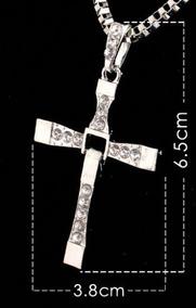 Colar Cruz Crucifixo Prateado Masculino Velozes E Furiosos
