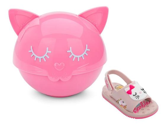 Sandalia Infantil Barbie Fashion Cat Baby Tigela E Talheres