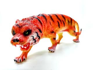 Juguete Animales Selva Goma Tigre Grande Felino Jungla 23