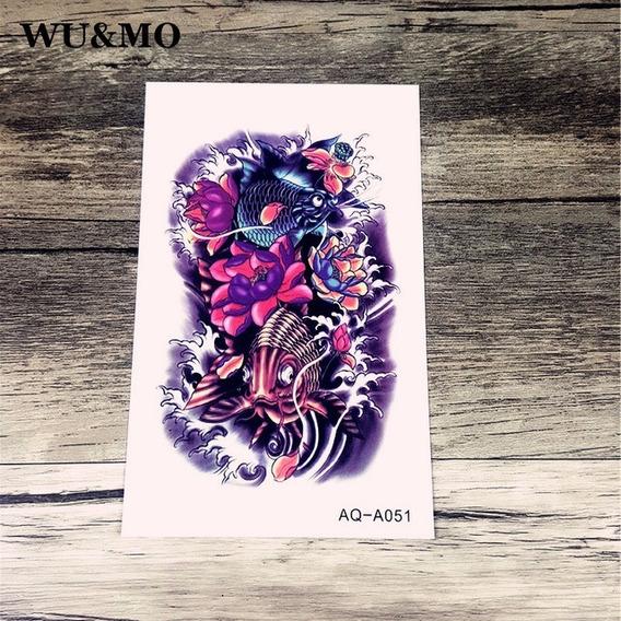 Tatuagem De Henna A Prova Dàgua Carpa
