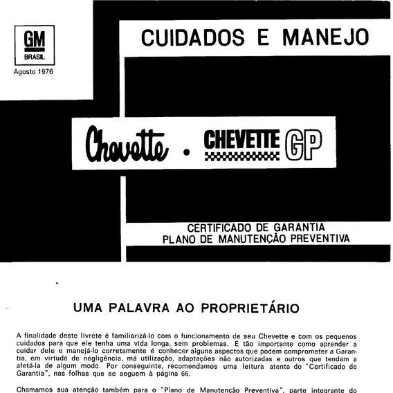Manual Chevrolet Chevette 1976 - 1979