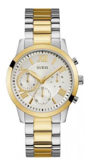 Relógio Feminino Guess Prata Dourad 92686lpgdba9 Original Nf