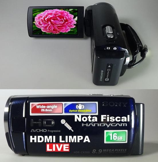 Filmadora Sony Hdr-cx260 Full Hd Entrada Microfone