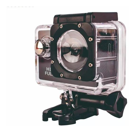 Filmadora Câmera Capacete Esporte Mergulho Moto 720p Hd