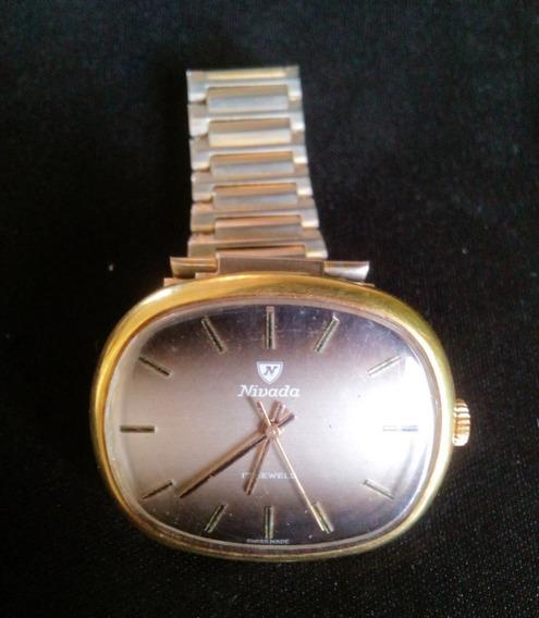 Reloj Nivada Vintage Caballero Chapa De Oro