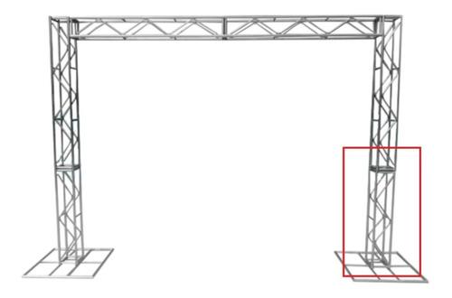Imagem 1 de 3 de Treliças Box Truss Q20 Aço Peça De 2 Metros - Lourenço