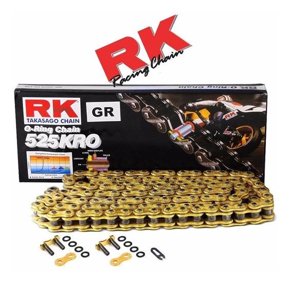 Cadena De Transmición Para Moto Rk 525kro Amarillo