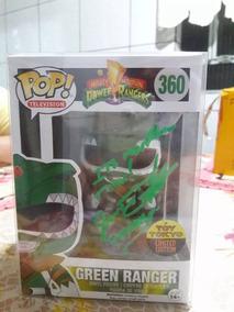 Funko Pop Ranger Verde Metálico Assinado