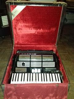 Acordion Piano Aleman Hohner 1957 120 Bajos 3 Registros Des!