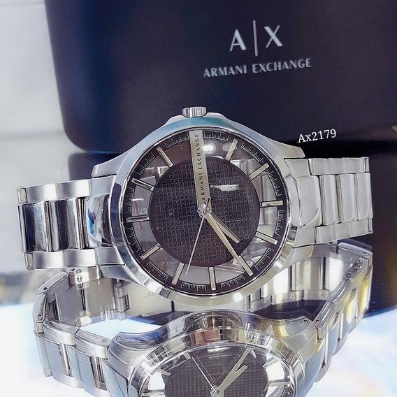Relógio Masculino Armani Preto Silicone - Ax2179