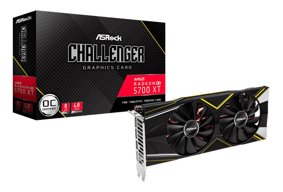 Placa Video Amd Radeon Rx 5700 Xt 8gb Asrock Oc Mexx 3
