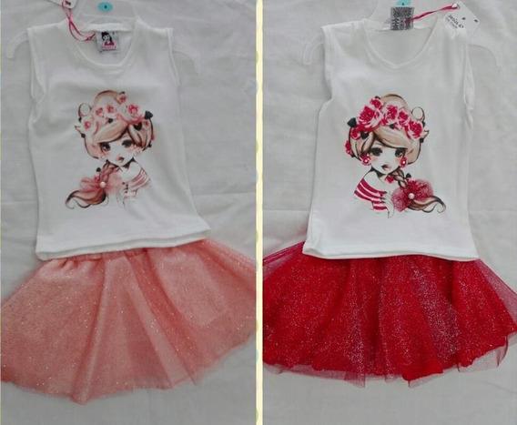 Conjunto De Falda Y Blusa Para Niña
