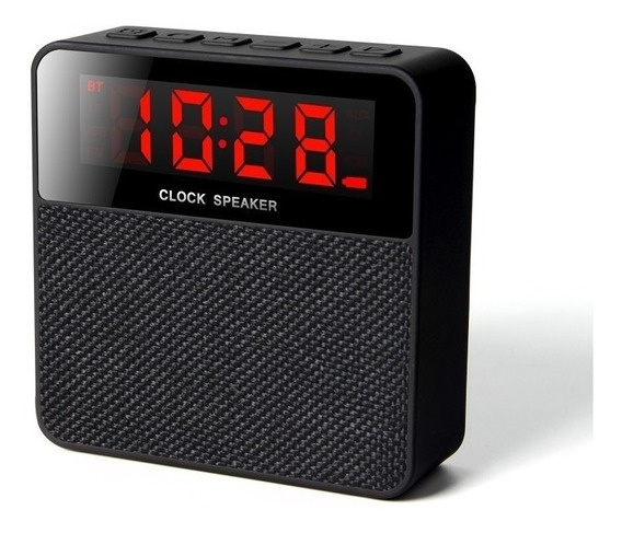 Radio Relógio Com Despertador Alarme Digital Bluetooth Mp3