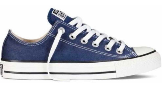 Zapatillas Converse All Star Low Lona Originales Azu/blan 44