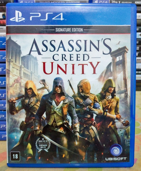 Assassins Creed Ac Unity Ps4 - Jogo Mídia Física Português