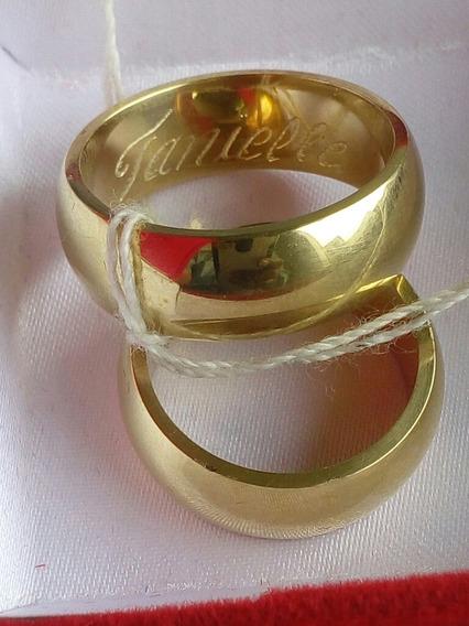 Alianças Cor De Ouro Feitas De Bronze O Par Te Custa 60.00