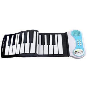 Teclado Musical Digital Midi Elêtronico Silicone Flexível