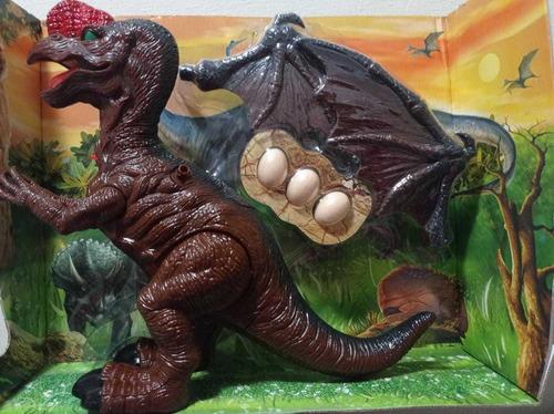 Dinosaurio Dino Valley Pone,huevo,camina,ruge,luces Jueguete