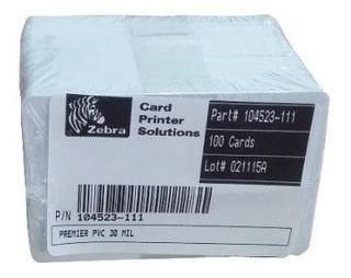 Tarjetas Pvc Para Credencial Zebra Original 100 Pzas