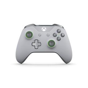 Controle Microsoft Cinza Claro Cinza Verde Xbox One S Novo
