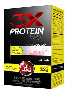 Way Protein 3x Midway 300g - 3 Sabores - Suplemento Proteico