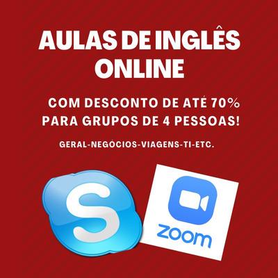 Aulas De Inglês Online - Até 70% De Desconto Para Grupos!