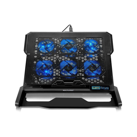 Base Para Notebook 6 Coolers Led Azul Multilaser