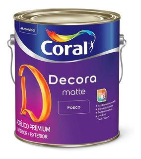 Tinta Acrílico Premium Matte Cor Amarelo Fosco - 3,2l-coral