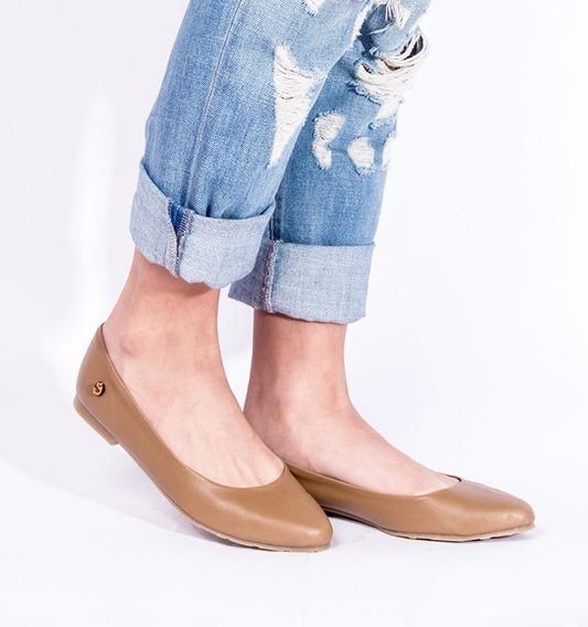 Zapatos Estilo Sandalia De Dama Comodas Ballerinas Camel
