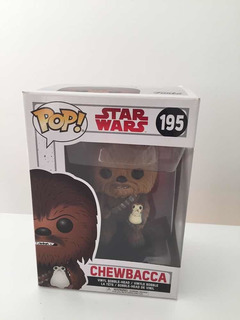 Funko Pop! Star Wars Chewbacca Con Porg