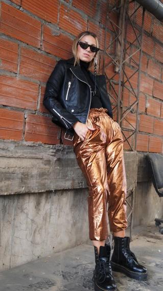 Pantalón Metalizado Color Cobre
