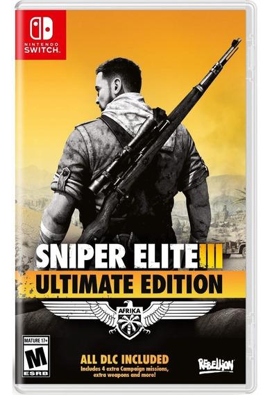 Sniper Elite 3 Ultimate Edition Switch Física Pronta Entrega