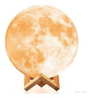 Lámpara Recargable Diseño Luna 3d