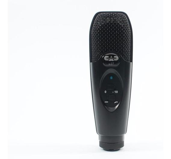 Cad U37 Microfone Estúdio De Gravação Condensador Usb Preto