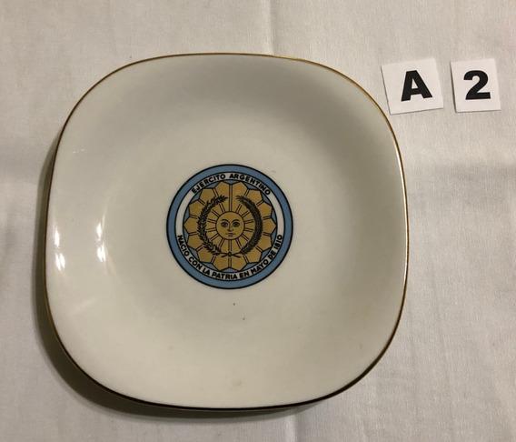 Lodelele Plato Porcelana Ejercito Colección (a2)