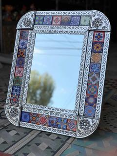Espejo Laminado Con Decorativos De Talavera