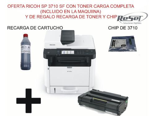 Fotocopiadora Impresora Ricoh Sp 3710sf +toner+regalo+envio